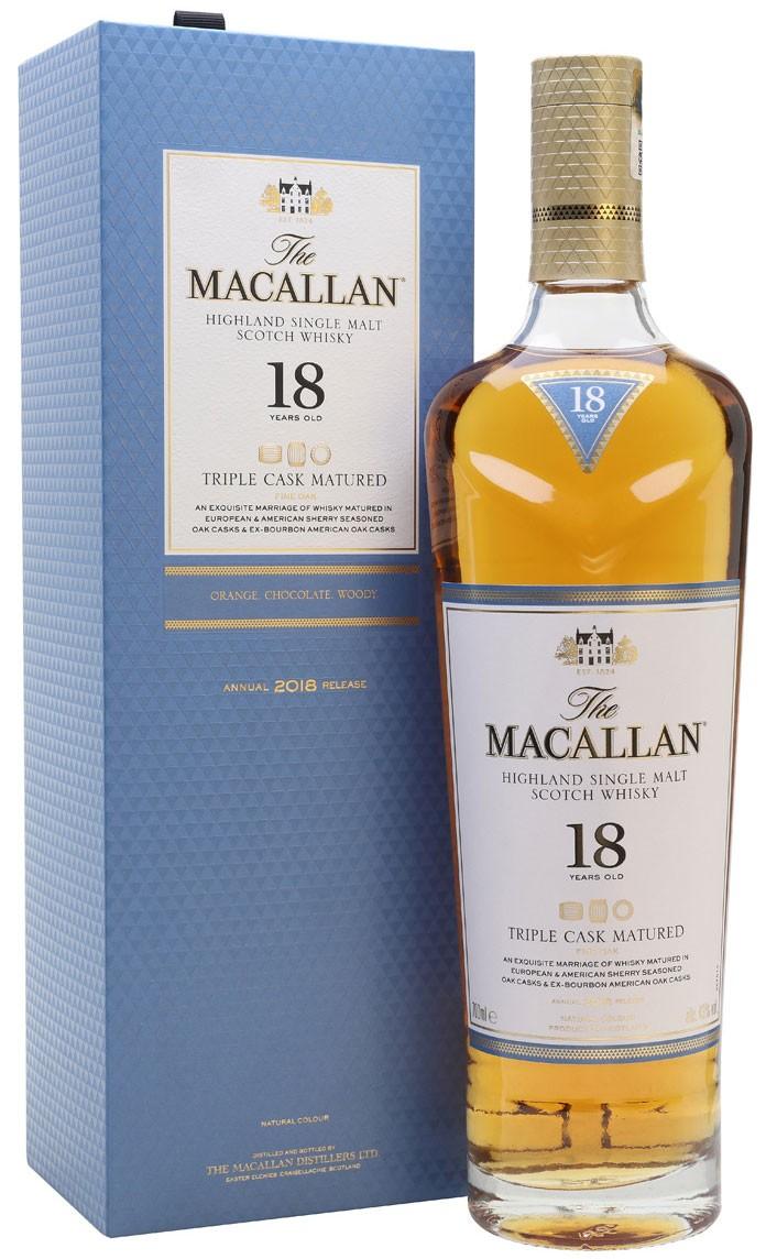 Macallan Triple Cask Matured 18 Y.O. (в коробці) фото
