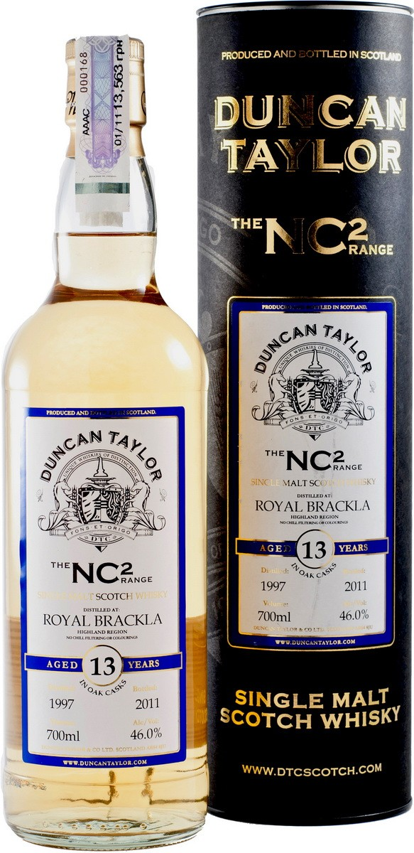 Duncan Taylor NC2 Royal Brackla 13YO (в тубусе) фото