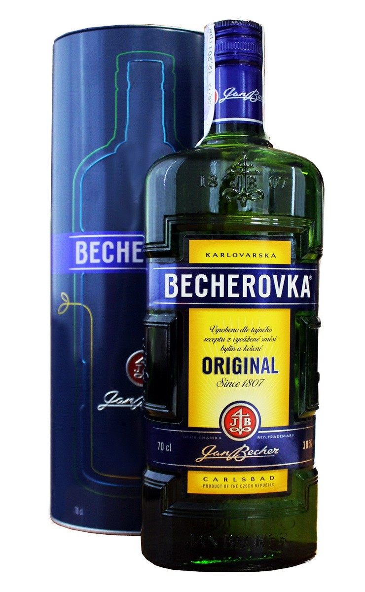Becherovka Original в тубусе фото