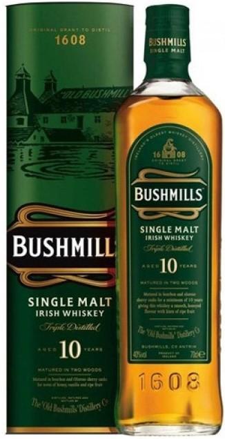 Bushmills Single Malt 10 Y.O. (в тубусе) фото