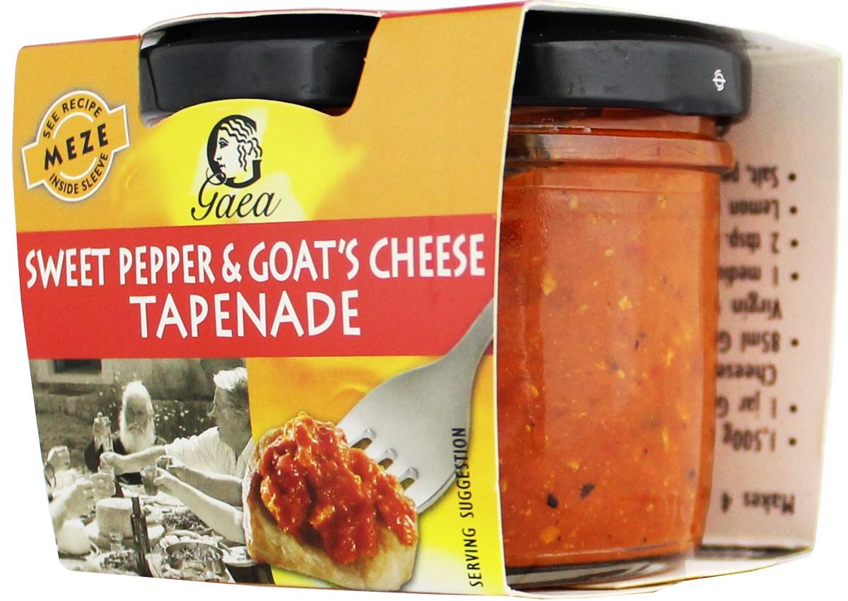 Gaea Products соус тапенад из сладкого красного перца и козьего сыра фото