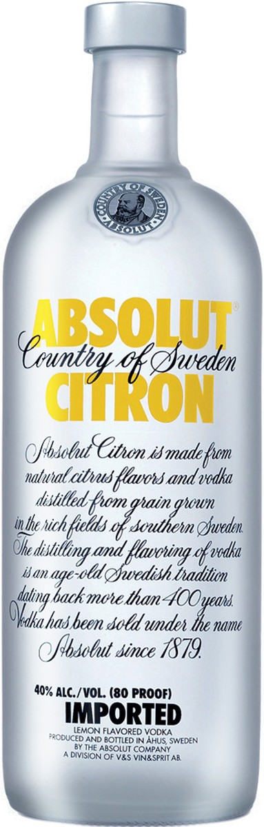 Absolut Citron фото