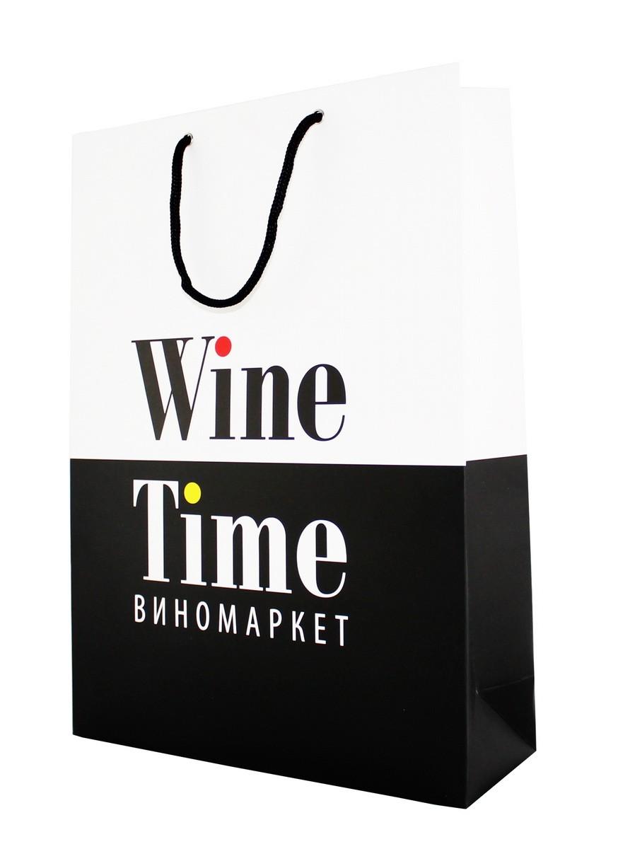 Пакет подарочный Wine Time фото