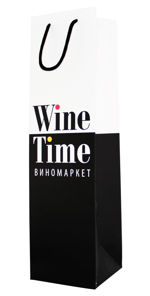 Пакет подарунковий Wine Time фото