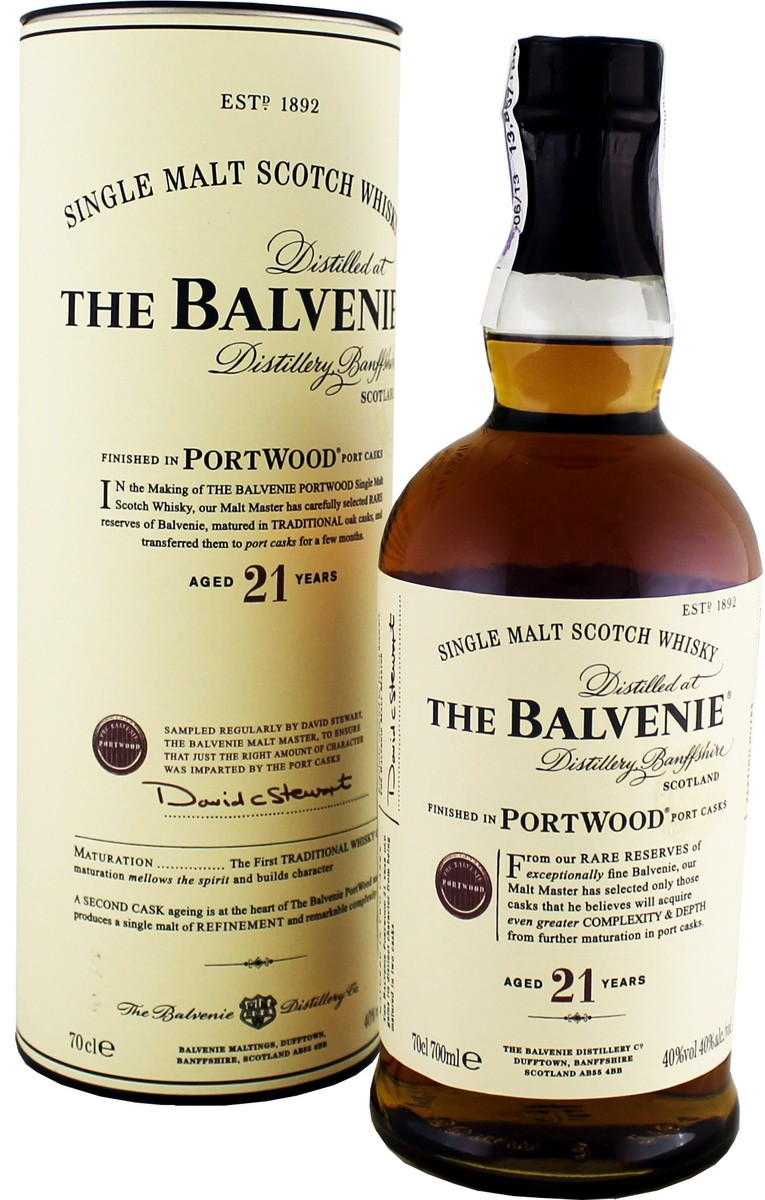 Balvenie Port Wood 21 Y.O. (в тубусе) фото