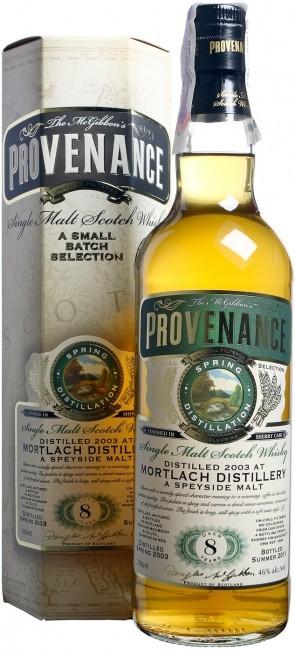 Douglas Laing Provenance Mortlach-Sherry (в коробці) фото