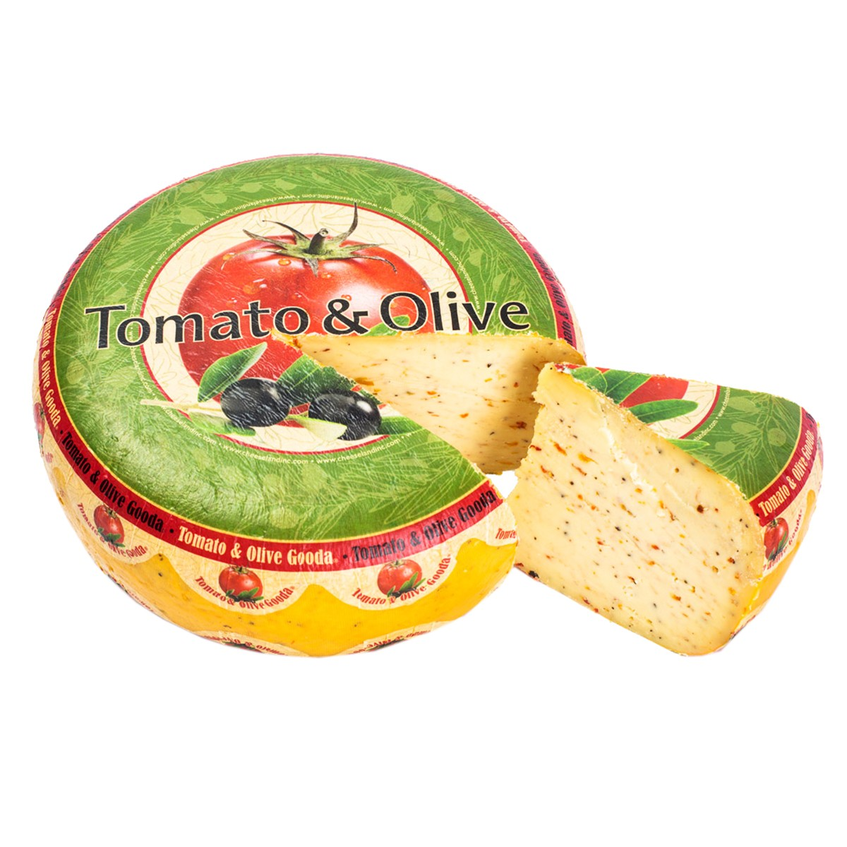 Сыр с оливками и томатами Gooda Cheeseland фото