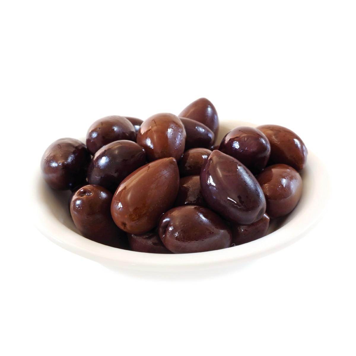 Оливки Каламон цільні чорні натуральні Ficacci фото