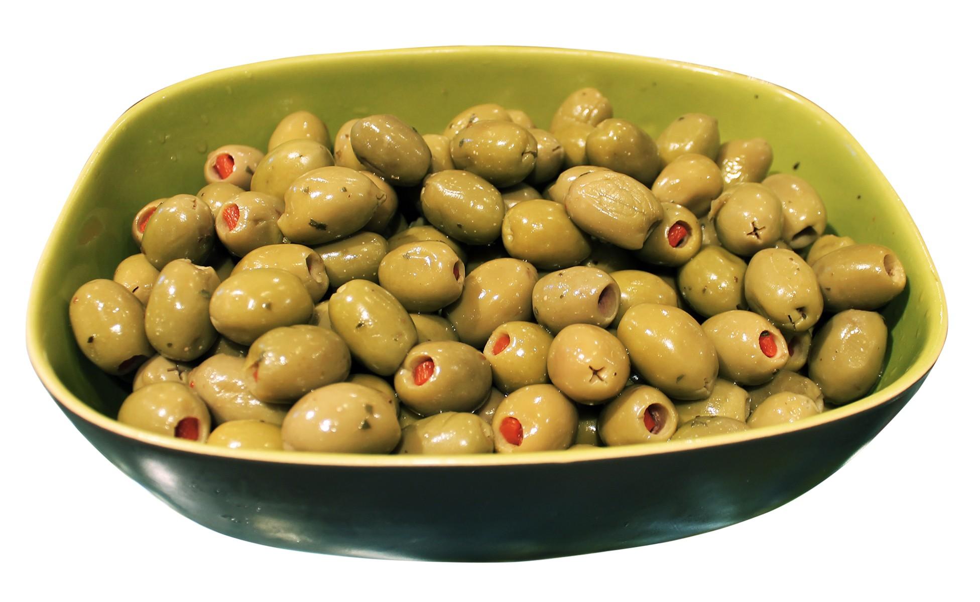Оливки Зелені фаршировані пікантні Ficacci фото
