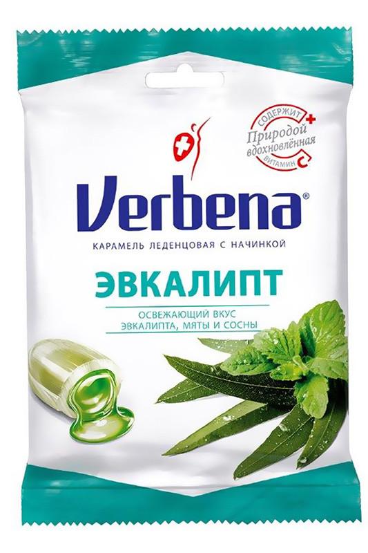 Леденцы Verbena Эвкалипт с травами и витамином С фото