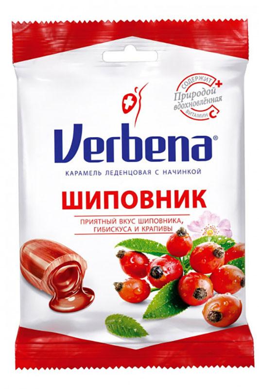 Льодяники Verbena Шипшина з травами та вітаміном С фото