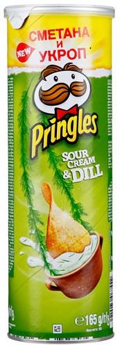 Чіпси Sour Cream & Dill Pringles фото