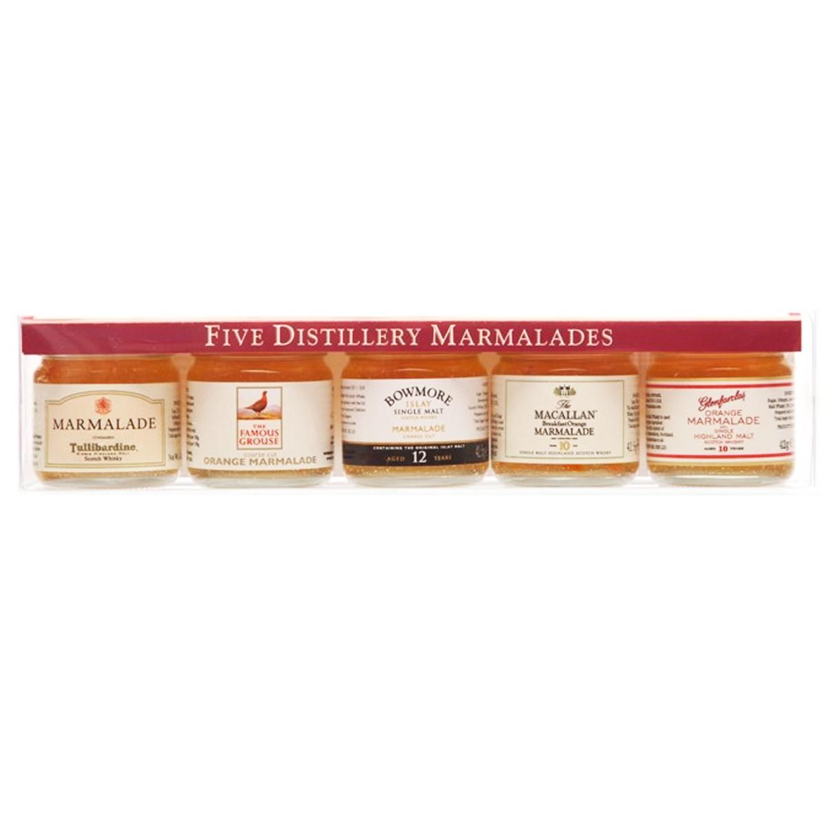 Джемы с добавлением виски 5 вискикурень Mackays (подарочный набор) фото