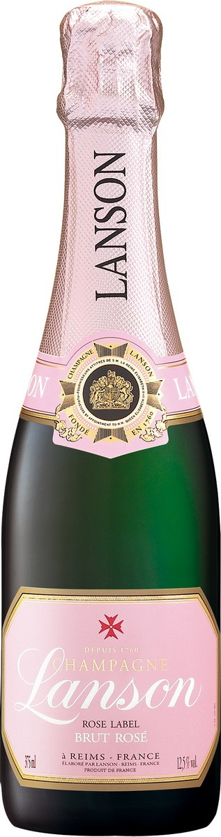 Champagne Lanson Rose Label Brut фото