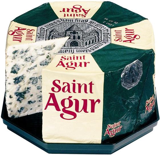 Сыр с голубой плесенню Saint Agur фото