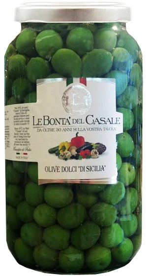 Зеленые сладкие оливки di Sicilia Le Bonta' del Casale фото