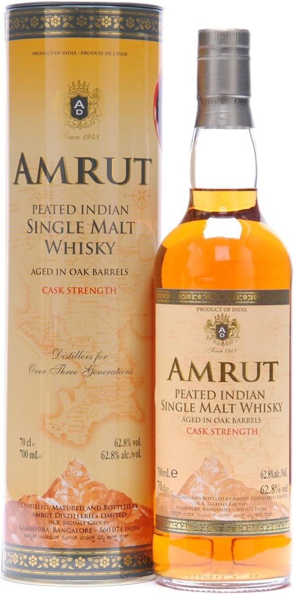 Amrut Indian Peated Single Malt Whisky Cask Strength (в тубусе) фото