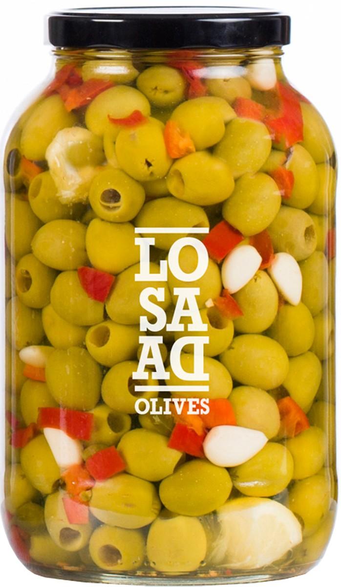 Оливки сорту Gordal без кісточок з прянощами Losada фото