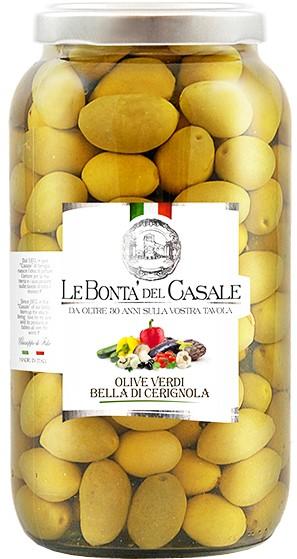 Зеленые оливки Bella di Cerignola Le Bonta' del Casale фото