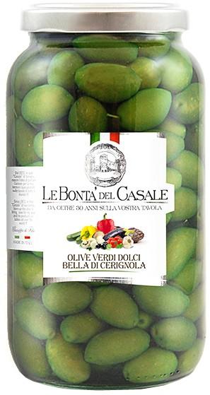 Зелені солодкі оливки Olive verdi dolci Bella di Cerignola Le Bonta' del Casale фото