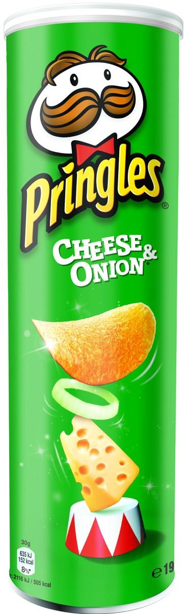 Чіпси Pringles зі смаком сиру та цибулі фото
