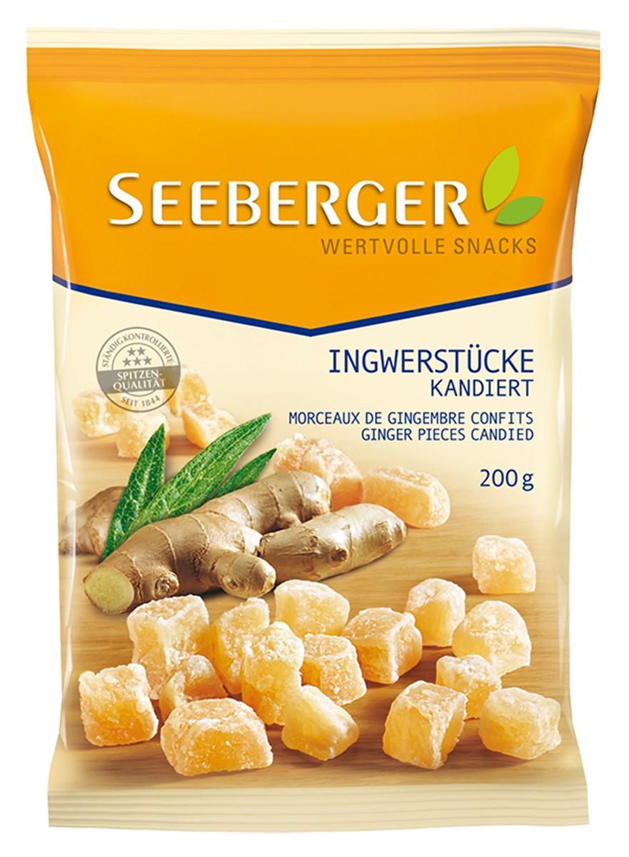 Имбирь засахаренный кусочками Seeberger фото
