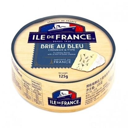 Сыр с белой и голубой плесенью Brie au bleu Ile de France фото