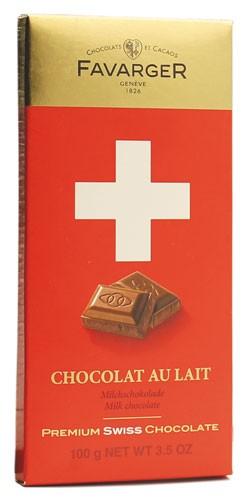 Шоколад молочний Premium Swiss Chocolate Favarger фото