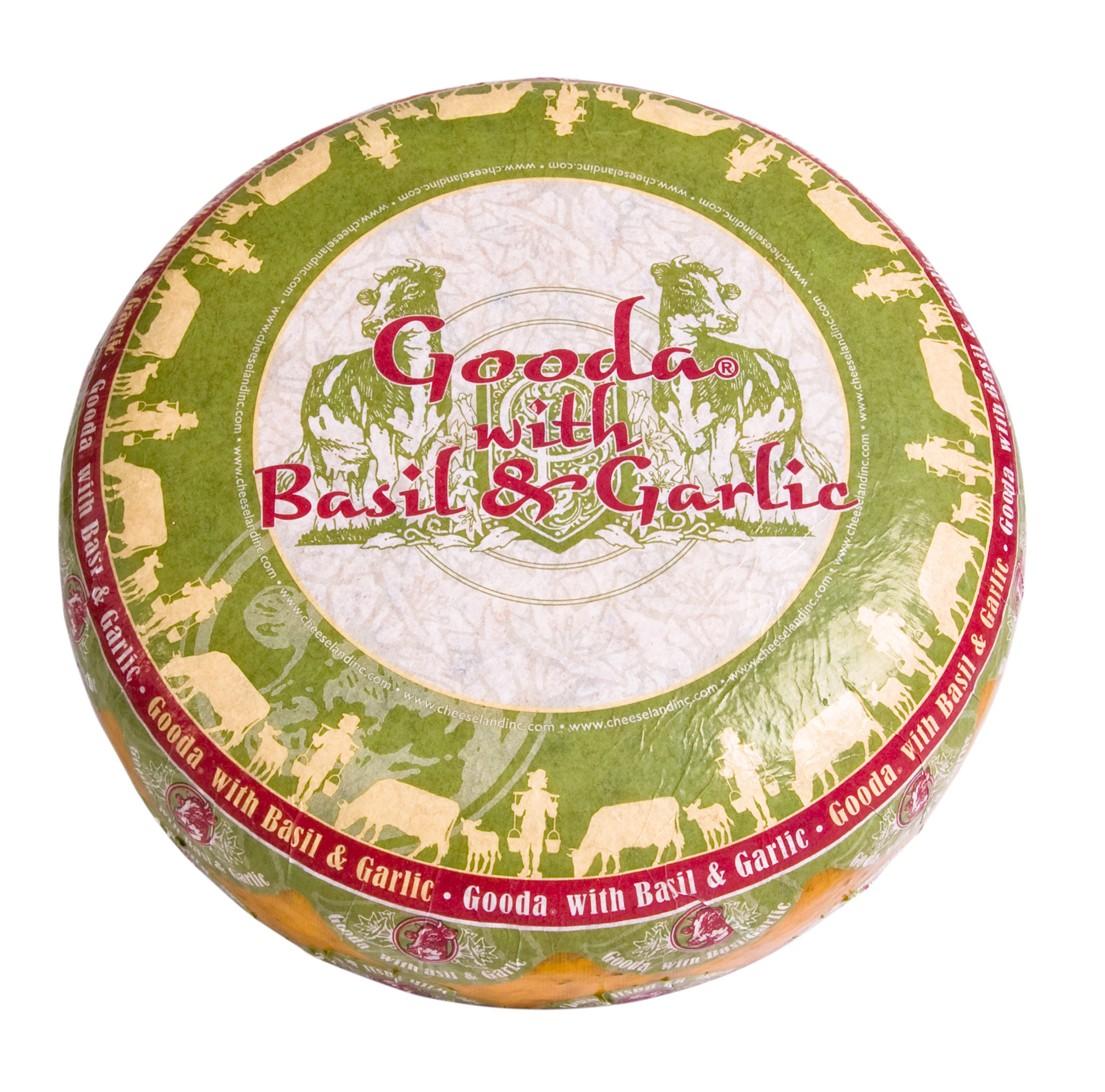 Сыр Gooda с базиликом и чесноком Cheeseland фото