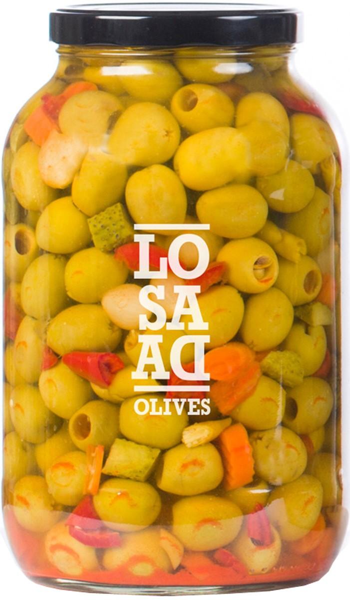 Оливки сорта Gordal без косточек в маринаде Losada фото