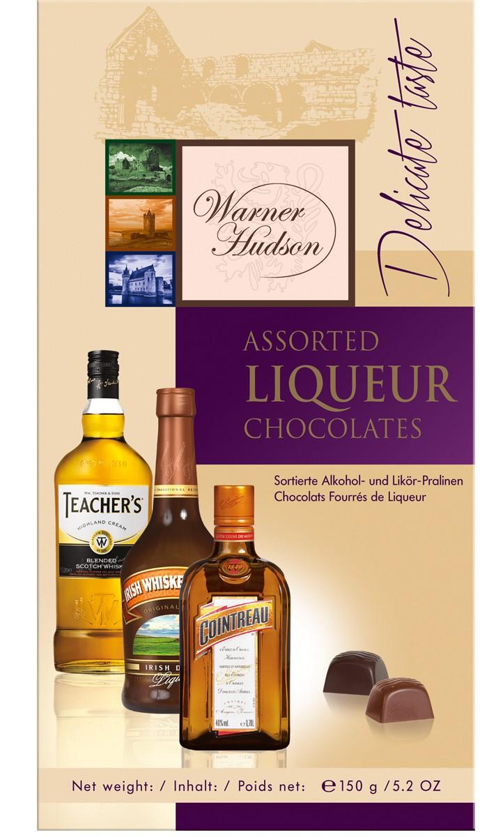 Конфеты шоколадные ассорти с алкоголем Warner Hudson фото