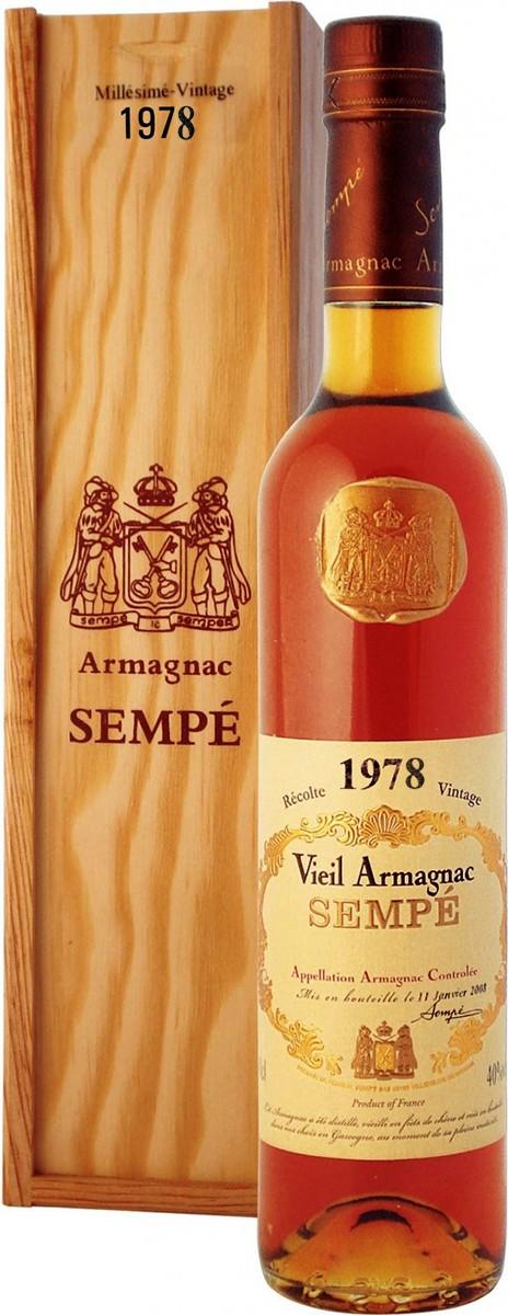 Armagnac Sempe 1978 (в коробке) фото