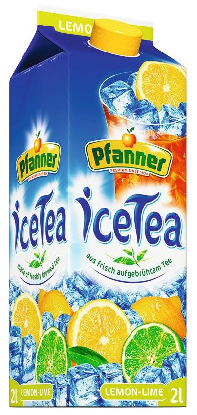 """холодный чай """"Лимон-Лайм"""" Pfanner фото"""