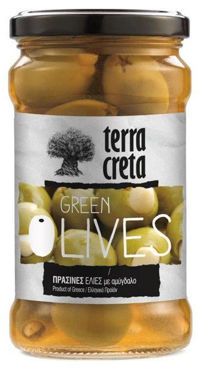 Оливки зелені з мигдалем Terra Creta фото