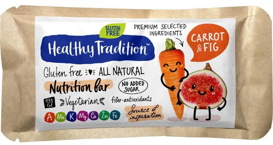 Питательный батончик без сахара Nutrition Bar морковь, инжир Nutrition Bar фото