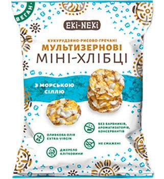 Мини-хлебцы мультизерновые ЕКИ-НЕКИ (кукурузно-рисово-гречневые) с морской солью фото