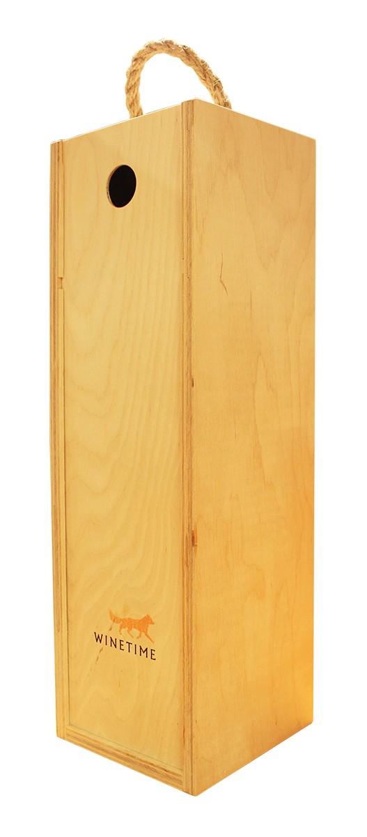 Короб подарочный деревянный Wine Time Fox (для магнума) фото