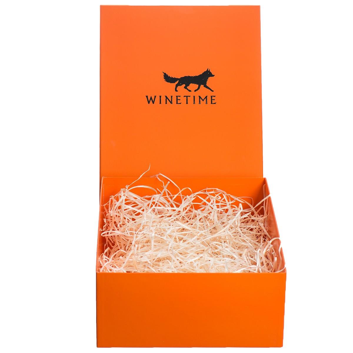 Короб подарочный WINETIME (оранжевый) фото
