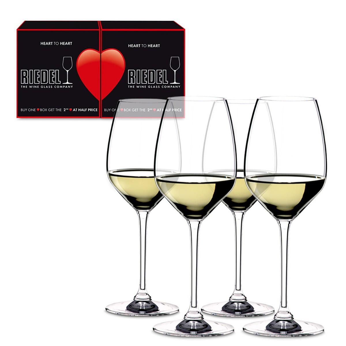 Набір бокалів для білого вина Riedel Heart To Heart фото