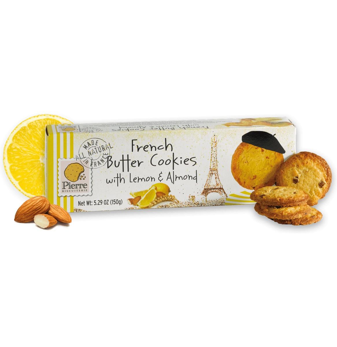 Печиво французьке вершкове з лимоном і мигдалем Pierre Biscuiterie фото