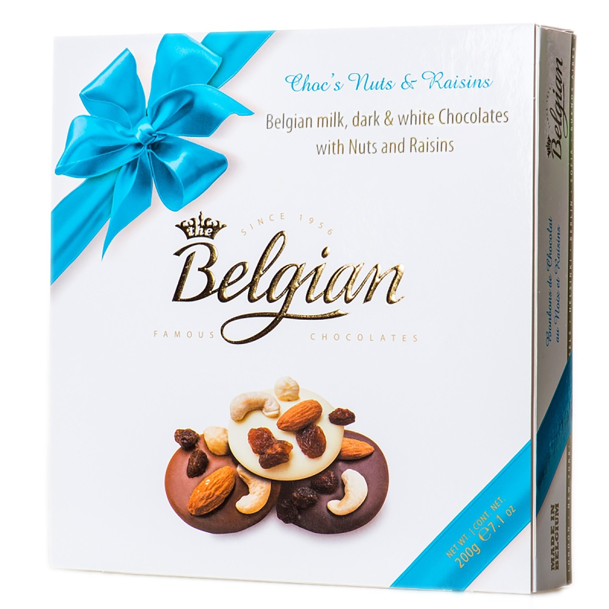 Шоколад з горіхами і родзинками Belgian фото