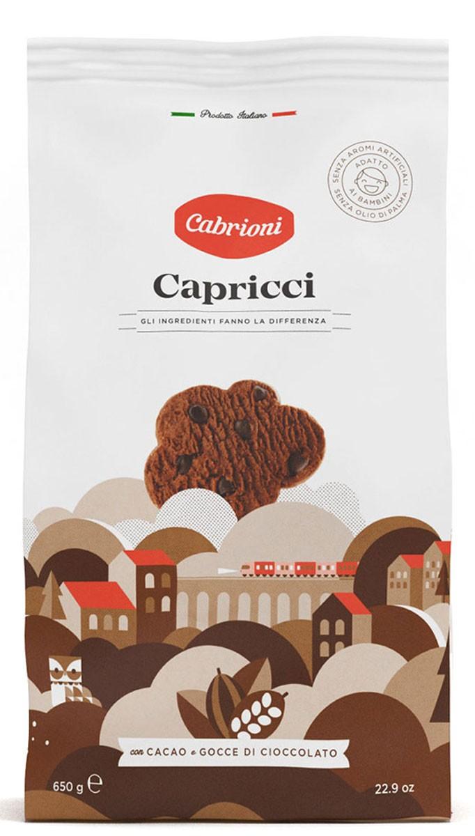 Печиво Cabrioni шоколадне зі шматочками шоколаду фото