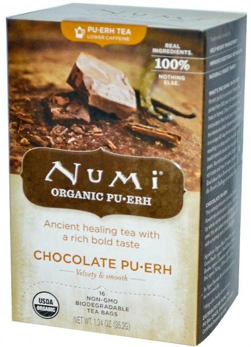 Чай черный Пуэр Шоколадный Numi Organic Tea фото