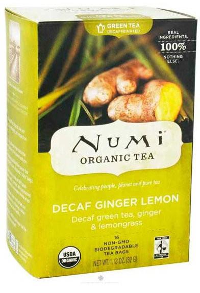 Чай зеленый с имбирем Солнечный лемонграсс без кофеина Numi Organic Tea фото