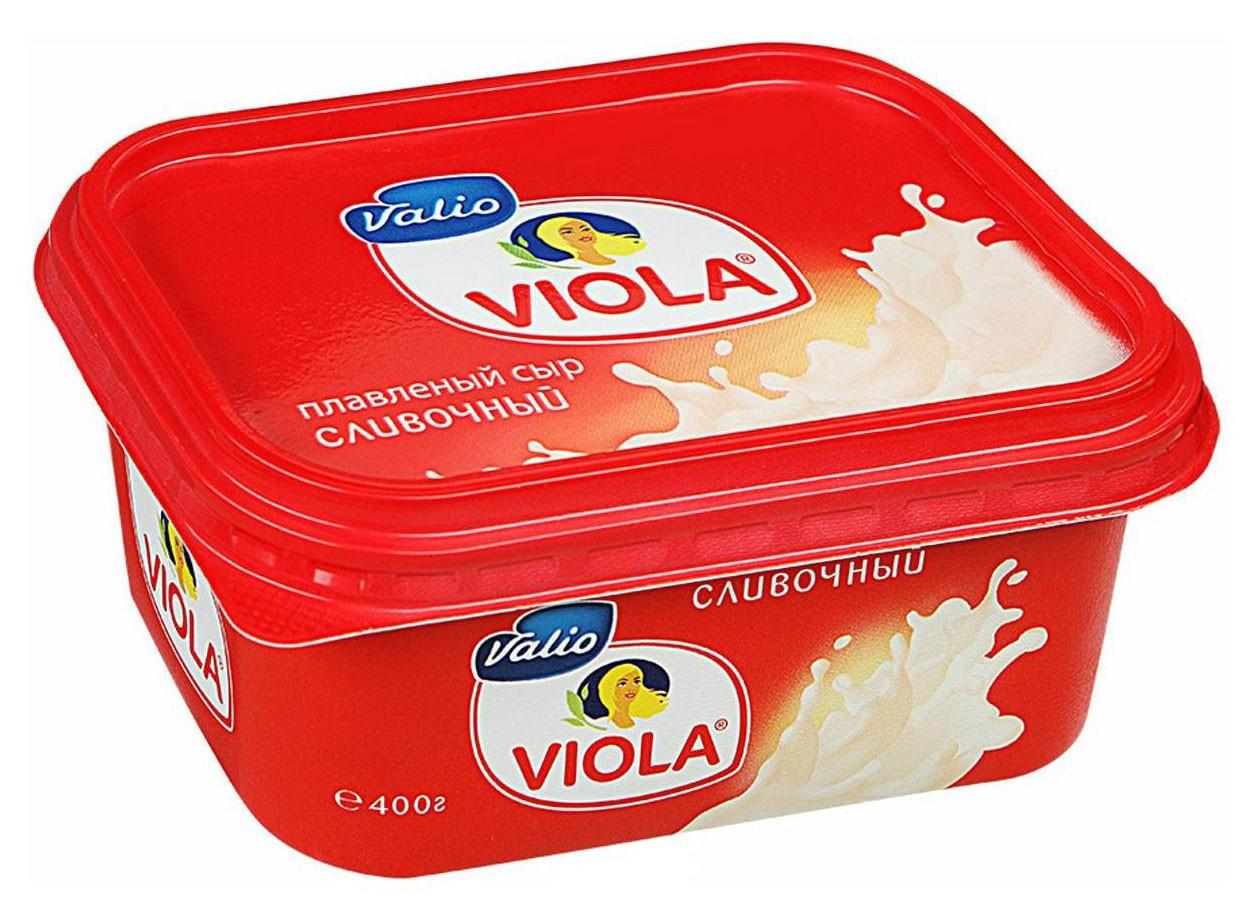 Сыр плавленый сливочный без глютена Viola Valio фото