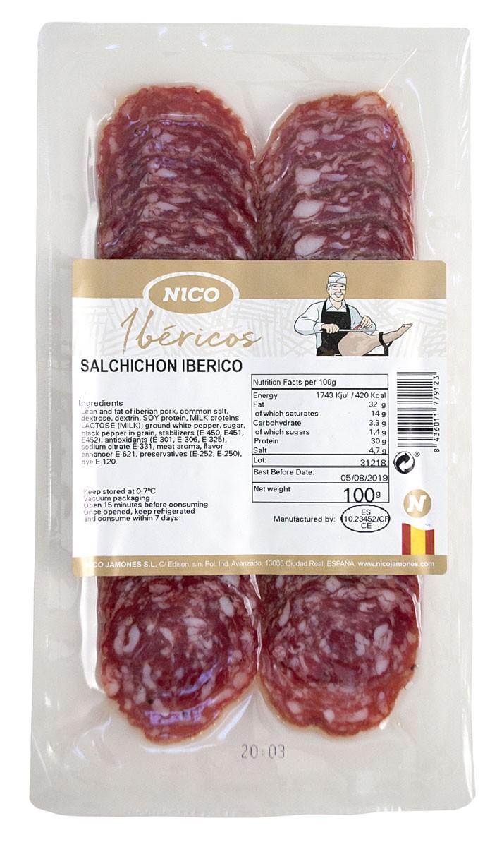 Нарізка Salchichon Iberico Nico Jamones фото