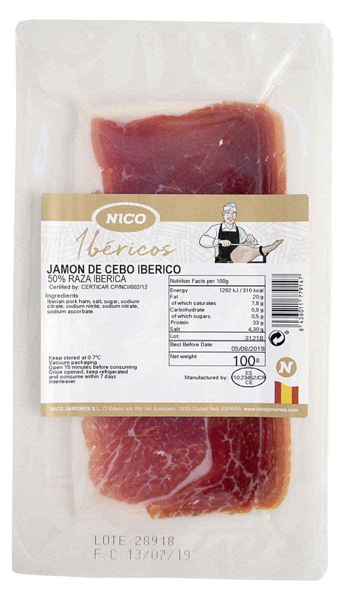 Нарезка Jamon de Iberico Cebo Nico Jamones фото