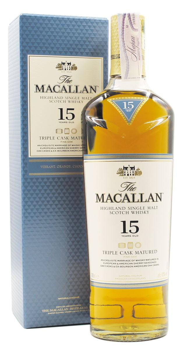 Macallan Triple Cask Matured 15 Y.O. (в коробке) фото
