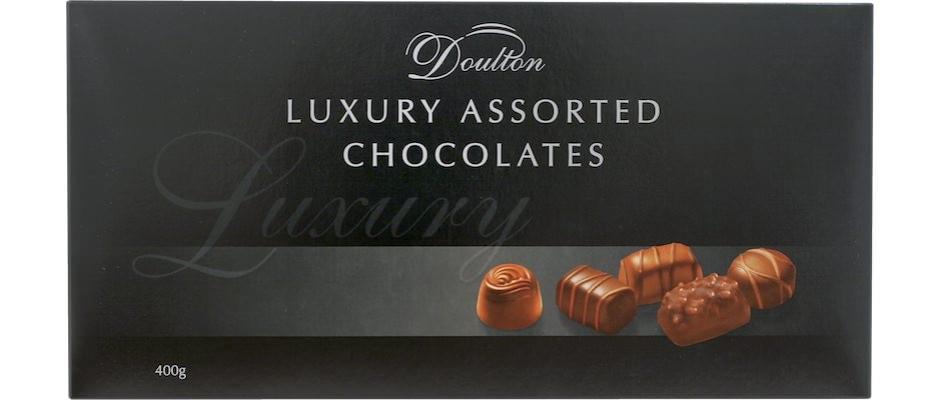 Цукерки шоколадні асорті Piasten Doulton Black фото