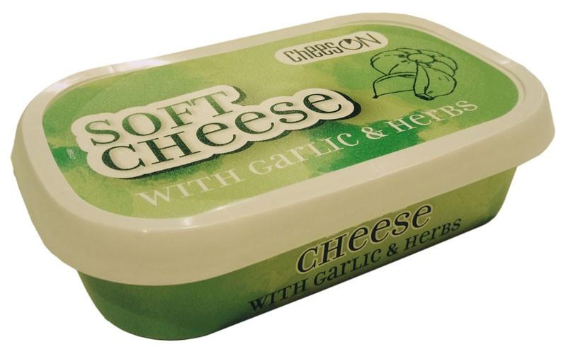 Крем-сыр мягкий с чесноком и зеленью Entrepinares CheesON фото